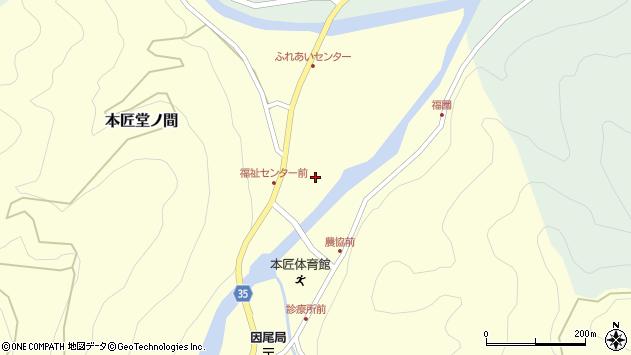 大分県佐伯市本匠大字堂ノ間283周辺の地図