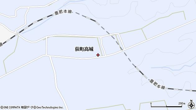 大分県竹田市荻町高城1023周辺の地図