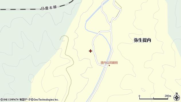 大分県佐伯市弥生大字提内1202周辺の地図