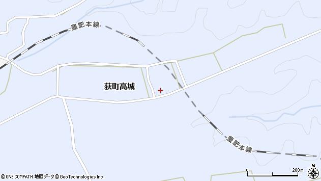 大分県竹田市荻町高城991周辺の地図