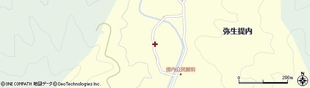大分県佐伯市弥生大字提内1186周辺の地図