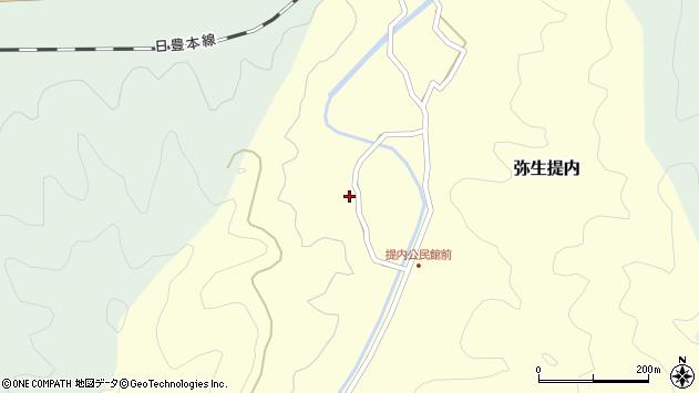 大分県佐伯市弥生大字提内1204周辺の地図