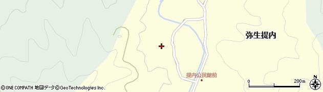 大分県佐伯市弥生大字提内1243周辺の地図