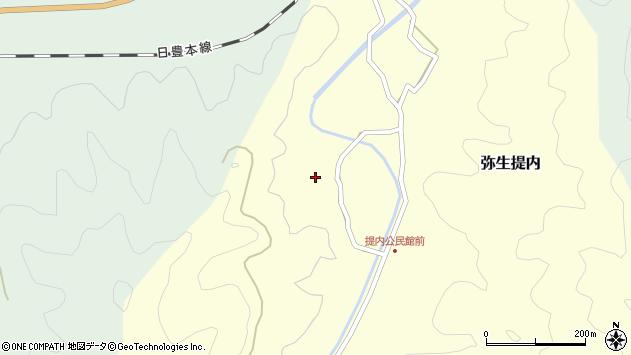 大分県佐伯市弥生大字提内1241周辺の地図