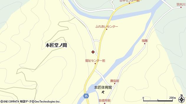 大分県佐伯市本匠大字堂ノ間325周辺の地図