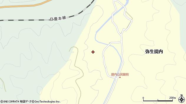 大分県佐伯市弥生大字提内1239周辺の地図