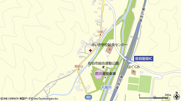 大分県佐伯市長谷5638周辺の地図