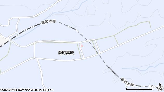大分県竹田市荻町高城987周辺の地図