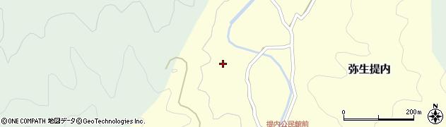 大分県佐伯市弥生大字提内1253周辺の地図
