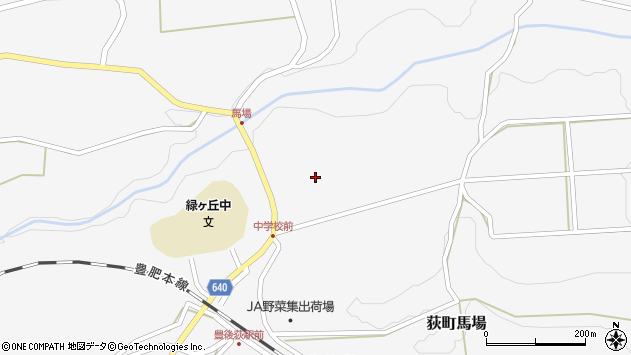大分県竹田市荻町馬場1003周辺の地図