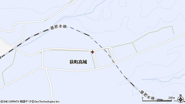 大分県竹田市荻町高城周辺の地図