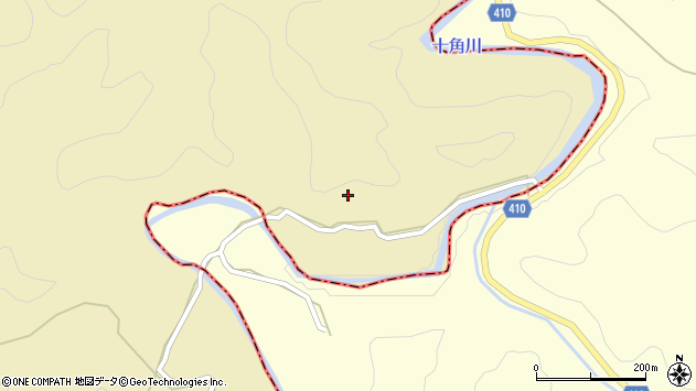 大分県竹田市太田岩本周辺の地図