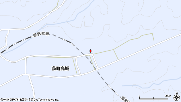大分県竹田市荻町高城1007周辺の地図