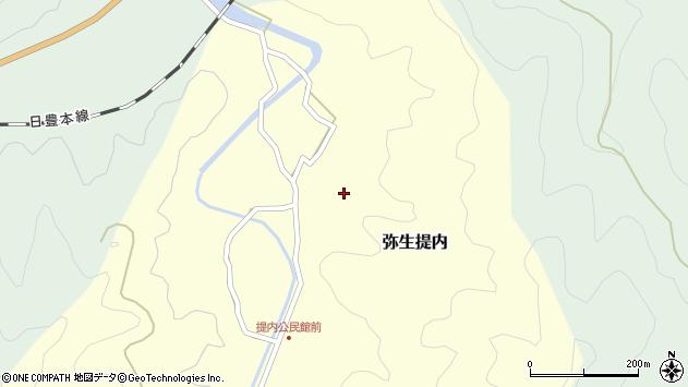 大分県佐伯市弥生大字提内218周辺の地図