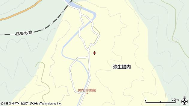 大分県佐伯市弥生大字提内283周辺の地図