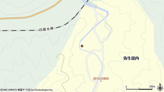 大分県佐伯市弥生大字提内153周辺の地図