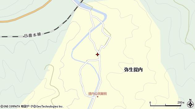 大分県佐伯市弥生大字提内188周辺の地図