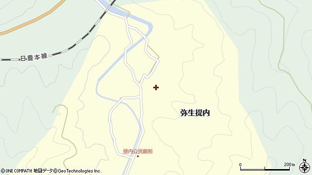 大分県佐伯市弥生大字提内216周辺の地図