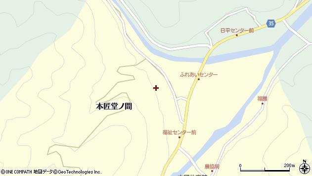 大分県佐伯市本匠大字堂ノ間135周辺の地図