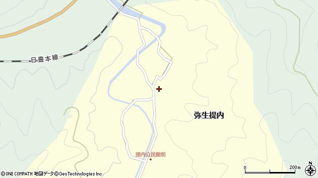 大分県佐伯市弥生大字提内281周辺の地図