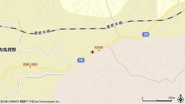 大分県竹田市荻町馬背野619周辺の地図