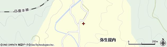 大分県佐伯市弥生大字提内周辺の地図