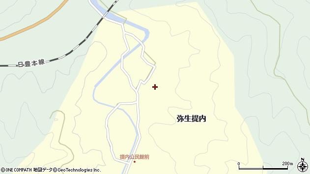 大分県佐伯市弥生大字提内212周辺の地図