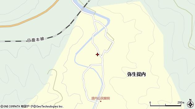 大分県佐伯市弥生大字提内185周辺の地図