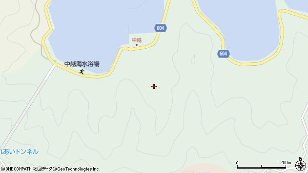 大分県佐伯市鶴見大字中越浦230周辺の地図