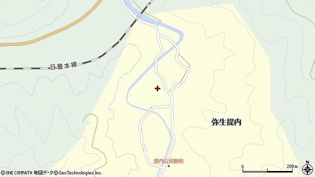 大分県佐伯市弥生大字提内183周辺の地図
