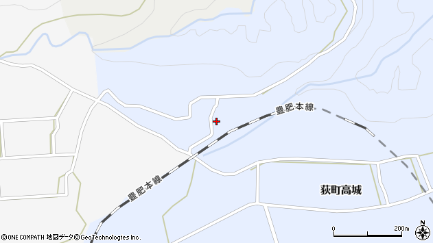 大分県竹田市荻町高城593周辺の地図