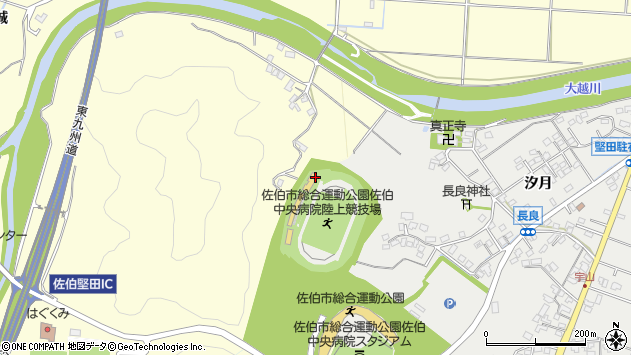 大分県佐伯市長谷3786周辺の地図