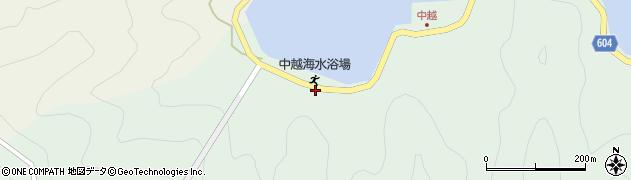 大分県佐伯市鶴見大字中越浦84周辺の地図