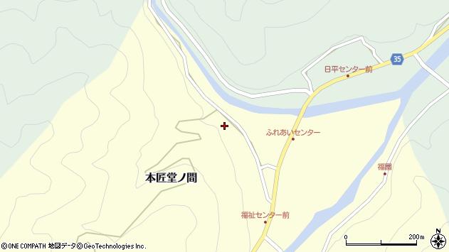 大分県佐伯市本匠大字堂ノ間122周辺の地図