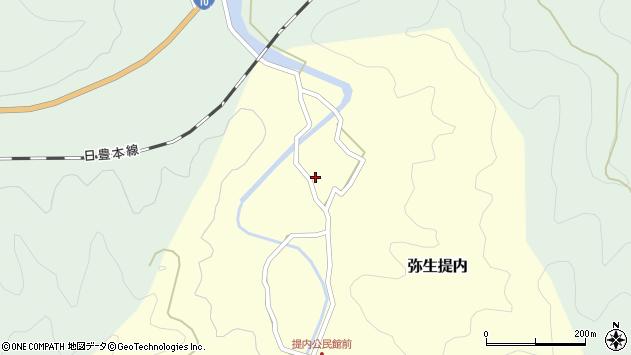 大分県佐伯市弥生大字提内135周辺の地図