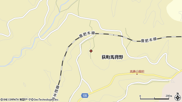 大分県竹田市荻町馬背野406周辺の地図