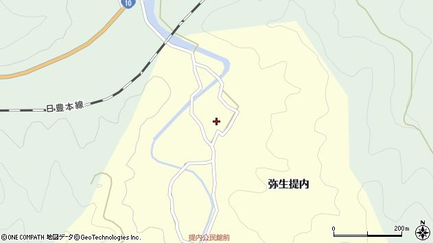 大分県佐伯市弥生大字提内133周辺の地図