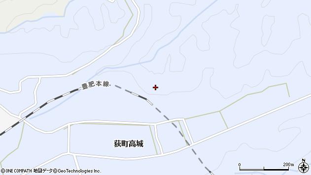 大分県竹田市荻町高城中行年周辺の地図