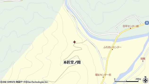 大分県佐伯市本匠大字堂ノ間41周辺の地図