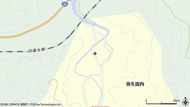 大分県佐伯市弥生大字提内118周辺の地図