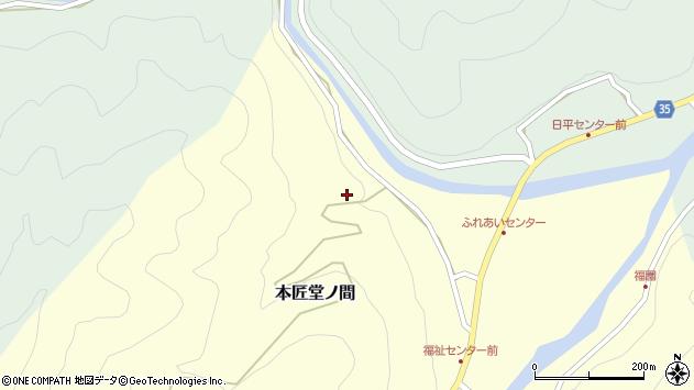 大分県佐伯市本匠大字堂ノ間36周辺の地図