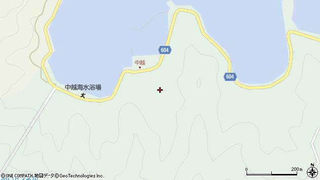 大分県佐伯市鶴見大字中越浦234周辺の地図