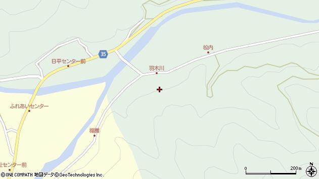 大分県佐伯市本匠大字因尾羽木川周辺の地図