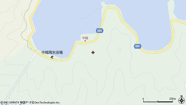 大分県佐伯市鶴見大字中越浦187周辺の地図