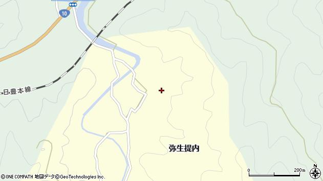 大分県佐伯市弥生大字提内91周辺の地図