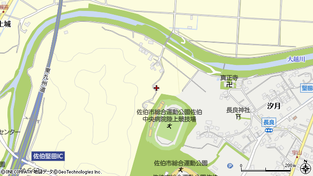 大分県佐伯市長谷7378周辺の地図