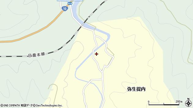 大分県佐伯市弥生大字提内115周辺の地図
