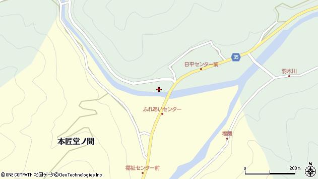 大分県佐伯市本匠大字因尾237周辺の地図