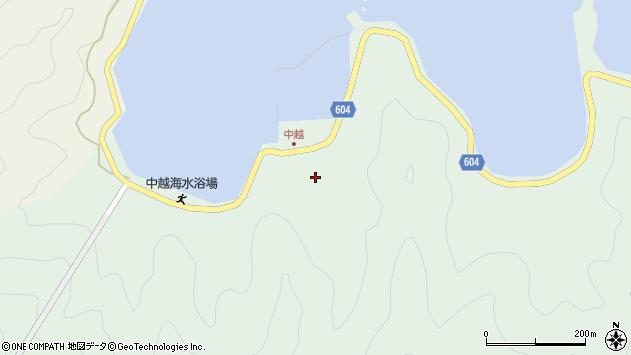 大分県佐伯市鶴見大字中越浦183周辺の地図