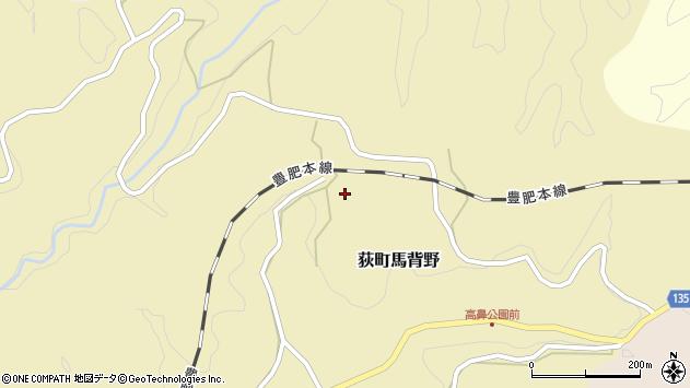大分県竹田市荻町馬背野382周辺の地図
